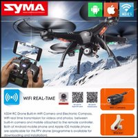 Wholesale Drones SYMA X5SW X5SW WIFI RC Drone FPV Helicopter Quadcopter with HD Camera G Axis Real Time RC Helicopter Toy