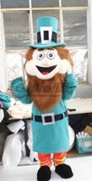 adult leprechaun costume - Popular Cartoon Character Leprechaun Larry Plush Adult Unisex Mascot Costume for Christmas Praty Custom Made D0329
