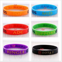 Wholesale Europe and the United States sell like hot cakes DOTA games around LOL hero alliance silicone bracelet anime peripheral accessories