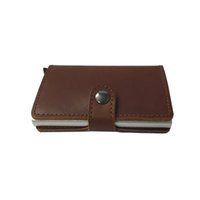 award holder - Top Quality Mini Genuine Leather Wallet with Reddot Award Winning Card Protector in Multi Colors