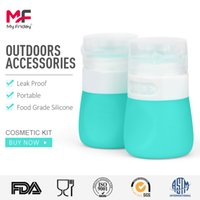 Wholesale Multi Function Silicone Packaging Bottles ml ml BPA Free Travel Bottle Set Squeezable Leak Proof Travel Containers for Cosmetic Kitchen