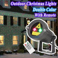 Wholesale Christmas Lights Star Projector Laser Shower Motion Outdoor Garden Lighting With IR Remote Waterproof Static Twinkle Flash