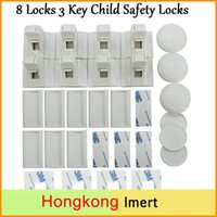 adhesive child locks - Child Safety Cabinet Locks Locks Key Magnetic Adhesive Baby Proofing Cabinet Drawer Safety Locks No Drilling Needed