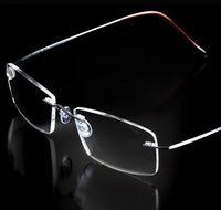 Wholesale Rimless Ultra light Flexible Memory Titanium Reading Glasses Diopter