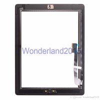 Wholesale 100 touch screen assembly digitizer with M sticker for ipad glass with flex with home button