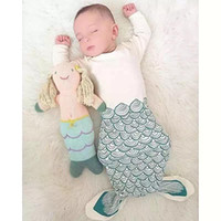 Cheap 3 designs INS Baby long sleeve Sleeping Bag Kids Mermaid Bear Little Red Riding Hood Sleeping Bags Blanket Child Cotton Pajamas E764
