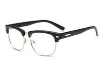 basic eyewear - D King Sexy Classic Large Oversized Basic Half Frame Women Men Clear Lens Glasses Eyewear Eyeglasses Black