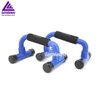 Wholesale Blue Push Up Bar Men Women Fitness Rack Lenwave Brand Exercise Equipment Home Trainer