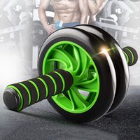 Wholesale No Noise Green Abdominal Wheel Ab Roller with Mat Abdominal Exerciser Fitness Equipment MD0071
