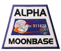 alpha tv - 3 quot SPACE Moonbase Alpha Jacket Shoulder Uniform TV MOVIE Series Costume Badge Embroidered Emblem applique iron on patch party favor