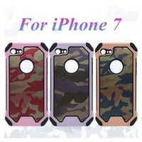 armor pattern - New Hybrid Camo Armor TPU PC Camouflage Pattern leather Case cover for iphone7 plus S PLUS S SE Samsung S6 EDGE S7 EDGE NOTE7 DHL