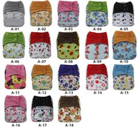 Wholesale Asenappy All in One Baby Reusable Cloth Pocket Diaper Covers Nappy sewn in one layers insert