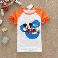 age tshirts - Freeshipping DHL Cartoon Clothing Korean Fashion Summer Kids miky tshirts Tops age Girls Outfit Children Clothing wholesales