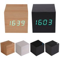 Wholesale Modern Wooden USB AAA Powered Digital LED Desk Alarm Clock with Thermometer MTY3