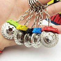 alloy car parts - Hot Fashion Auto Disc Brake Keychain Car Accessories Parts Key Chain Ring zinc alloy Keyring colors