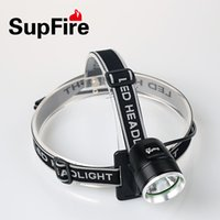 Wholesale SupFire BL01 LED headlamp and bicycle light camiping rechargeable outdoor hiking dual use with mah power bank