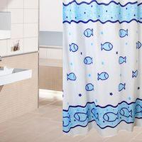 Wholesale Super Deal Shower Curtain Bathroom Products Fabric Shower Curtain bath curtain blue duschvorhang XT