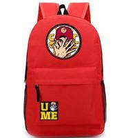 bags john - Red John Cena Cenation backpack Rise above heat school bag Cool wrestling sport daypack Good schoolbag Quality day pack