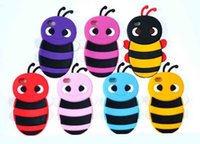 apple bees - The new Apple iphone6 Silicone phone shell D cartoon small bees Dijiao phone sets female models