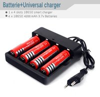 Wholesale EU US Plug led Flashlight torch Multifunctional Battery Charger for Li ion Battery Battery