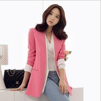 Wholesale 2016 Autumn OL new career commuting career hit a solid color hit a small button suit ladies jacket