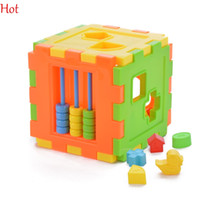 alphabet baby building blocks - Kid Educational Play Games Animal Shape Alphabet Block Cube Toddler Baby Toy Multifunction Portfolio Toys Building Blocks Colorful SV007840