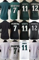 eagles jersey - Women Football Stitched Eagles Blank Bradford Carson Wentz Cunningham White Green Black Elite Jerseys Mix Order