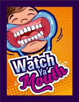 Wholesale 24pcs Party Game Board Game Watch Ya Mouth Game cards mouthopeners Family Edition Hilarious Mouth Guard