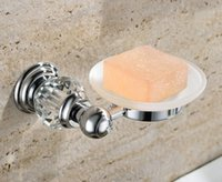 Wholesale Crystal Brass Glass chrome Soap Dishes Soap Holder Soap Case GY006