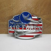 air force accessories - United States Air Force classic belt buckles Military Tactical fashion Survival silver model belt buckleTexas Mens Western Turbo