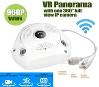 Wholesale VR Fisheye Panoramic Camera MP ONVIF CCTV Panoramic Night Vision Fisheye Surveillance Security WIFI IP Dome VR Camera