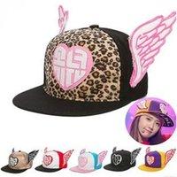 baseball express - The new Korean version of the hat embroidered angel wings EXPRESS girlhood hip hop baseball cap flat brimmed hat