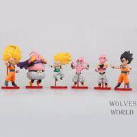 Wholesale 6pcs Dragon Ball Z Action Figure Son Goku Gohan Goten Buu Ubu Budokai PVC Model Japanese Anime Figure Dragonball Z Kai Toy