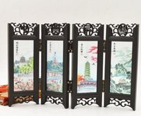 antique chinese screens - The small screen features Chinese antique scenery decorative ornaments crafts classical