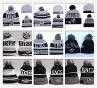 bamboo linen - 2016 Los Angeles Kings Beanies LA Winter Warm Cuffed Pom Ice Hockey Hat High Quality Grey Black Skullies Men s Knit Wool Hat