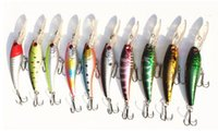 Wholesale Hot selling colors Fishing bait MM g Floating Lure laser Crank Minnow hard lures fishing tackle
