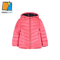 Wholesale YAKUYIYI Basic Seem Hoodied Solid Pink And Color Lightweight Coat Long Sleeve Zipper Fly Outwear Children Clothing