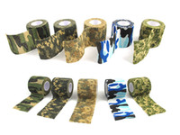 Wholesale M Roll Camo Stretch Bandage Camping Hunting Camouflage Tape for Gun Cloths Hot