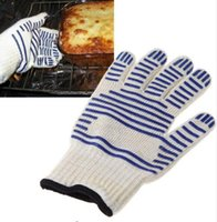 Wholesale Protective Cooking Tools bakeware tricot Microwave Ove Oven Glove Heat Resistant Proof Kitchen Gadgets