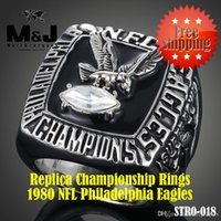 american football eagles - 1980 National Football Philadelphia Eagles sale replica super bowl championship rings men jewelry