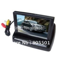 Cheap Free Shipping 4.3'' Foldable TFT LCD Wireless Car Back Up Rearview Camera Kits Reverse Sensor parking kit