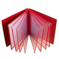 Wholesale Black Red PU leather Restaurant Menu Covers Coffee Bar Menu List Folder DIY Menu Folders Restaurants Equipments Accept OEM Order