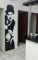 american home school - stickers school CHARLIE CHAPLIN CINEMA Silhouette Wall Art Sticker Decal DIY Home Decoration Wall Mural Removable Bedroom Decor stickers