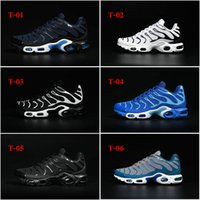 baseball pvc - 7Color Hot Sale Drop Shipping Famous Air Sport TN KPU Mens Athletic Sneakers Sports Running Shoes Casual Shoes Size