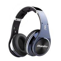 Wholesale Bluedio R Legend Version Bluetooth Headphones Supports NFC Bluetooth4 Deep bass wireless Headphones over the ear Headphones