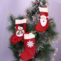 aluminum xmas trees - Christmas Party Tree Decorations Santa Claus Snowman Snowflake Candy Socks Xmas Gifts bag
