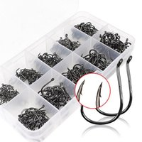 Wholesale High quality box Fish Jig Hooks with Hole Fishing Tackle Box Sizes Carbon Steel Dropshipping