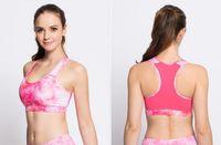 Wholesale Printed New Wireless Shock resistant Sports Yoga Bra