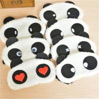 Wholesale lovely panda eye mask shade cute travel rest blindfold cover sleeping eye mask eyeshade eyepatch