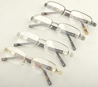 Wholesale 2013 New design brand Optical frame MB0385 Half Rimless metal eyeglasses frame for men with original packing